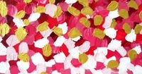 "Abstract Art ""Chanel Falling Rich Petals"" Print to Canvas 27""x36"" Large. $199.00, via Etsy."