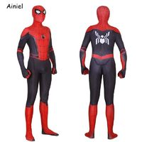 Adult Spider Man Far From Home Peter Parker Cosplay Costume Mask Zentai Spiderman Superhero Jumpsuits Halloween Costume Men Kids $66.86