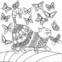 Horseman Tessellation by M.C. Escher coloring page | Animal ... | 200x200