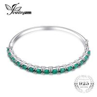 Gift Idea - 5.8ct Created Emerald Bracelet 925 Sterling Silver $116.99