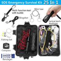 SOS Emergency Survival Tools Kit Camping Fishing Hiking Survival Set Gear Tactical Tool