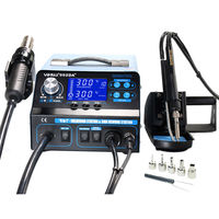 YIHUA 992DA+ 4 in 1 LCD Digital Hot Air G un Soldering Station + Vacuum Pen + Smoking Electric Soldering Iron BGA Rework Station