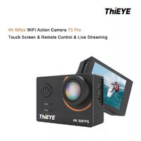 First Launch] ThiEYE T5 Pro 4K Ultra HD Video Live Stream WiFi Stabilizer EIS Remote Control Waterproof Sport Action Camera