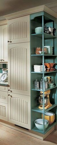 Love the shelf on the end. Smart Home Remodeling Ideas to help you sell your home fast. Just make sure to use http://www.LystHouse.com to maximize your ROI on your home sale. http://www.LystHouse.com