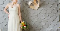 I like DIY patterned backdrops, like Amanda's cranes! Simple (but laborious) way to add interest and color to decorations