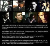 "Jensen on ""Dean"""