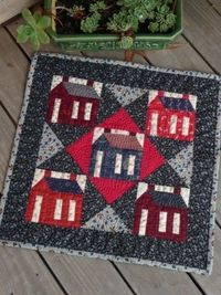 school house little quilt A cozy quilt to cuddle up in and read a book. Very teacher-y.