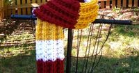 Washington Redskins themed Hand Knit Scarf by KnitsbyTibbymc, $40.00