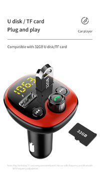 BT21 bluetooth 5.0 Chip Car Charger Auto MP3 Player Hands-free One-touch Call DC5V Dual USB 3.1A U Disk TF Card