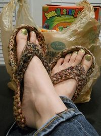 Ravelry: basaltimum's Earth Day Flip Flops PLARN bottom