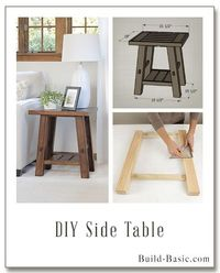 Build a DIY Side Table - Building Plans by