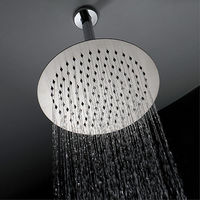 Contemporary Stainless steel Rain Shower Brushed Feature Shower Head.jpg