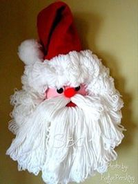 Bleach Bottle Santa Decoration A bleach bottle Santa craft.This is so cute and makes a great gift. This is one that my friend's mom made years ago I put it up every Christmas