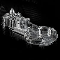 3D Metal Puzzle, Basilica Model Kit, Assembly Jigsaw Game,Home Decor $33.80