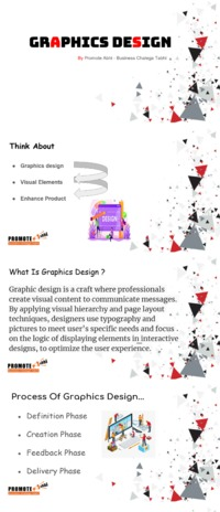 Graphics is an integral part of any work. And it's been rightly said- Graphics Design creates culture. Culture shapes values. Values determine the future.'�'� PROMOTE ABHI, being the best graphic designing agency in Delhi understands this....