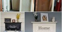 Save those old cabinet doors! Use them for beautiful DIY projects like this - Mais