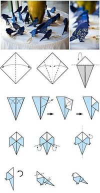 Origami bird how-to