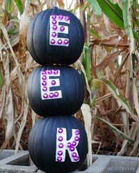 Turn craft foam pumpkins into marquee letters to use year after year.