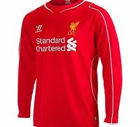 Warrior Liverpool Home Shirt 2014/15 Long Sleeve WSTM401 Liverpool Home Shirt - Long Sleeved 2014/15 RedYoull never walk alone in this Long Sleeved Liverpool Home Shirt.  New for 2014/15 this red shirt features breathable War-Tech® fabric so you can sta...