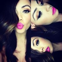 pink lips, pink lipsticks and bright pink lips.