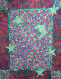 Contemporary Batik Quilt Moon and Stars by CherishedDreams on Etsy, $120.00