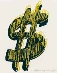 #AndyWarhol | $ [Dollar Sign] | Mount Street Galleries http://www.printed-editions.com/artwork/andy-warhol--dollar-sign-22563