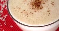 Vegan White Hot Chocolate with Coconut Milk from blog.happy-vegan.com -- sounds pretty rich but perhaps a nice holiday treat. #vegan