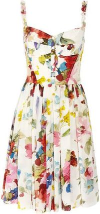 Dolce & Gabanna, the perfect sweetheart floral sun dress.