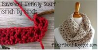 Fiber Flux...Adventures in Stitching: How To Crochet the Pavement Infinity Scarf (stitch by stitch)