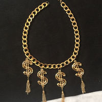 MOSCHINO DOLLORS TASSELS NECKLACE GOLD