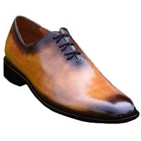 Johny Weber Handmade Brown Patina Oxford Shoes