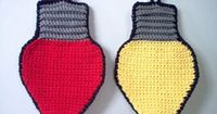 Christmas Lights Dishcloth/Potholder Pattern - saw these put together for a Christmas Scarf!!