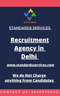 Standards Services, ever since its incorporation more than 10 years ago, has been offering the best recruitment and manpower services to many companies. We are renowned Recruitment Agency in Delhi that offer employees with various job options to look out ...