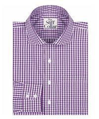 Purple Gingham Regular Fit Cotton Shirt �'�1049.00