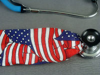 American Flag Stethoscope Cover | Independence Day Stethoscope Cord Cover | Nurse Doctor Gift | Stethoscope Accessories | Stethoscope Sock $10.99