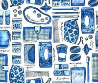 mom purse blues fabric by betsysiber on Spoonflower - custom fabric