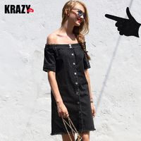 Off-the-Shoulder Trail Dress Cotton Cowboy Stylish Dress - Bonny YZOZO Boutique Store
