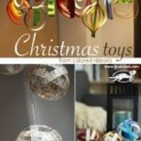 Like the snowman to do with little A Nine Ideas for Christmas Toys from Colored paper strips