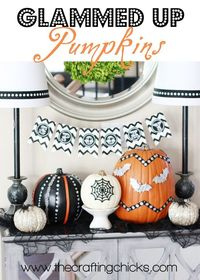 It's time to start thinking about fall decor! I LOVE fall�€�and my kids can't wait for Halloween. When I received these pumpkins from Michaels, I knew I wanted to