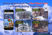Char Dham Yatra Online Registration Available on Uttarakhand Tourism Explore Outing App
