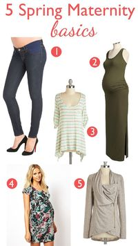 Spring w/ a bigger belly: 5 Spring Maternity Style Basics