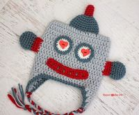 Repeat Crafter Me: Crochet Lovebot Robot Hat