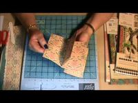 This video tutorial shows you step by step how to create 3 different styles of mini scrapbook albums using just one sheet of 12�—12 double sided pattern paper.