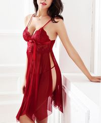 Hot Sexy Lace Sleeveless Women Nightgown Sleepwear,NEW,on Sale!