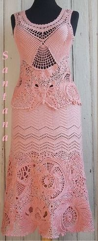 Simply stunning! Beautiful crochet lace dress �™�LCL�™� with diagrams and picture placement and the work in progress. Absolutely beautiful �™��™��™��™�