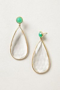 Darn this store! Couldn't resist these beauties especially when I found them on SALE. My tax return being put to good use;) Teardrops #anthropologie