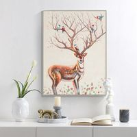 Deer painting Acrylic paintings on canvas art animal paintings wall pictures Home Decor hand painted Original painting cuadros abstractos $98.75