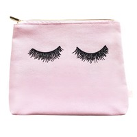 Pink Eyelashes Makeup Bag @The Lavender Lilac