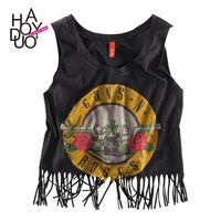 Harajuku Style Oversized Printed Sleeveless Summer Sleeveless Top Strappy Top Top - Bonny YZOZO Boutique Store