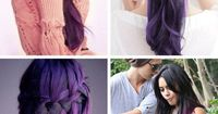 2014 Winter/2015 Hairstyles and Hair Color Trends purple-black hair colors
